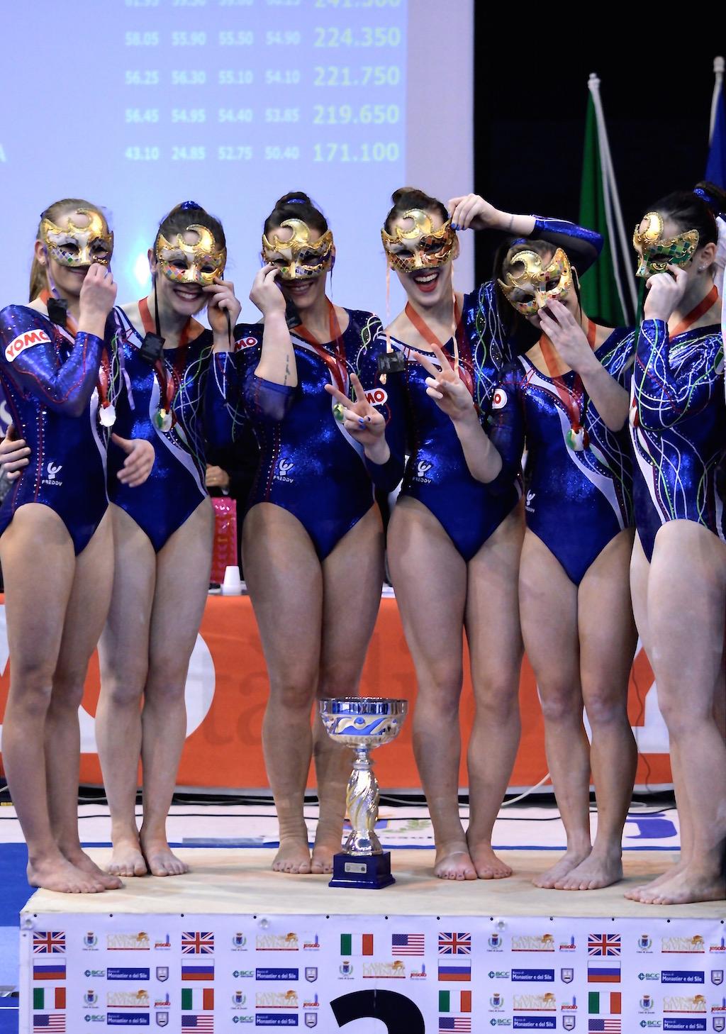 Italia podio squadra